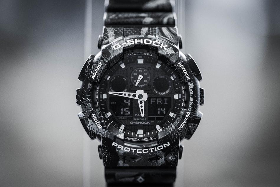 G-SHOCK x Marcelo Burlon: часы с экзотическим паттерном