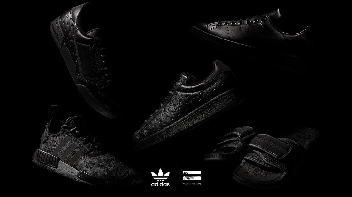 adidas Originals x Pharrell Williams Triple Black