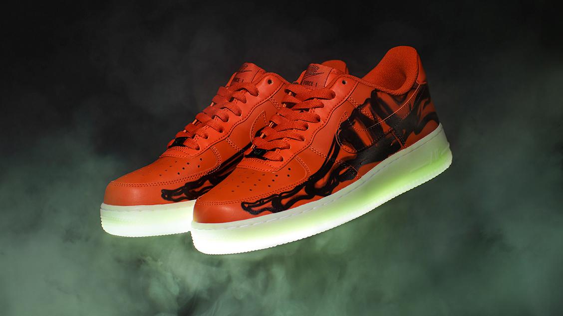 Nike Air Force 1 Skeleton Orange