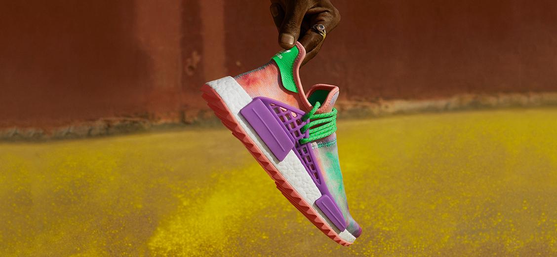 adidas Originals × Pharrell Williams Hu: фестиваль красок