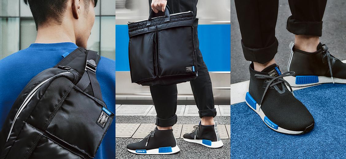 adidas Originals × PORTER: чёрно-синий тандем
