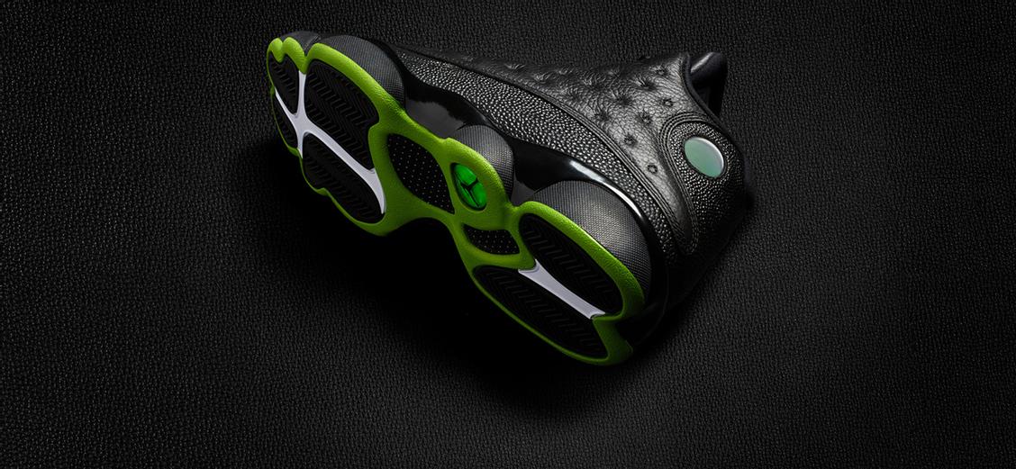 Air Jordan 13: зелёные акценты