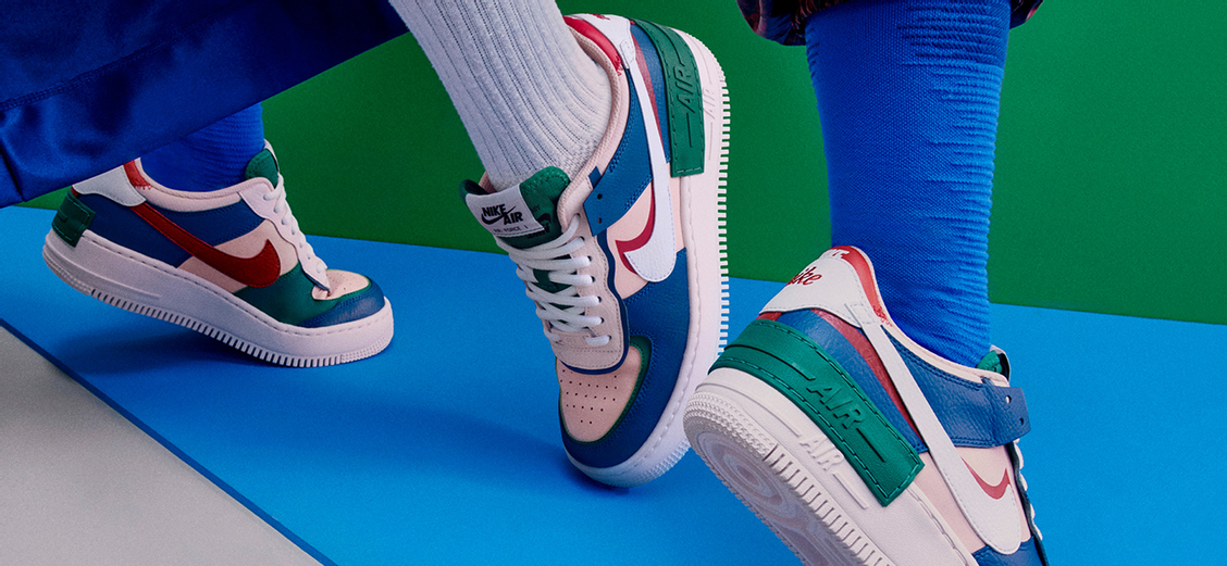Nike Air Force 1 Shadow: слой за слоем