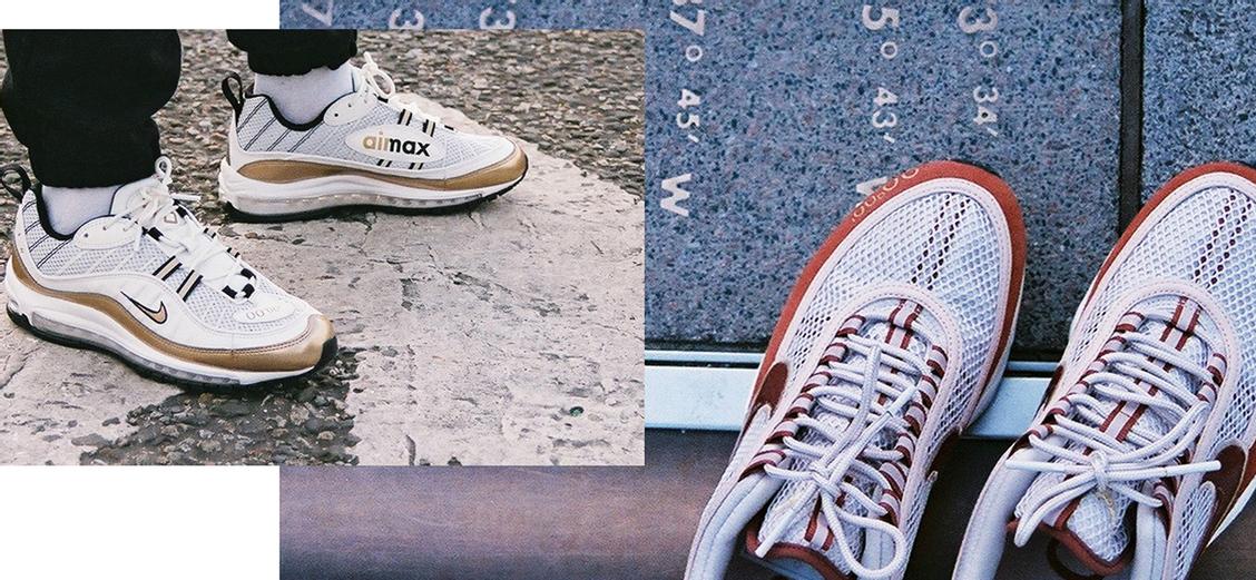 Nike Air Max 98 & Air Zoom Spiridon: время по Гринвичу
