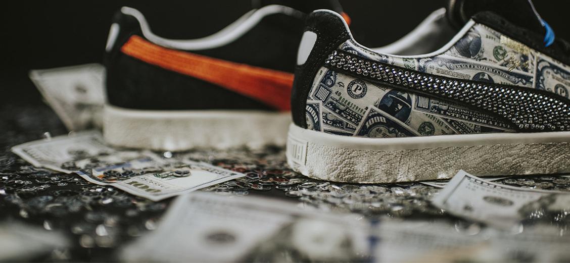 "Puma × mita sneakers Clyde ""$1000"": спустя 10 лет"