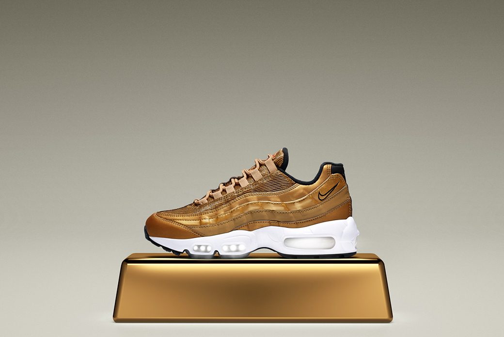 Nike Air Max Metallic Gold: четыре силуэта в одной расцветке