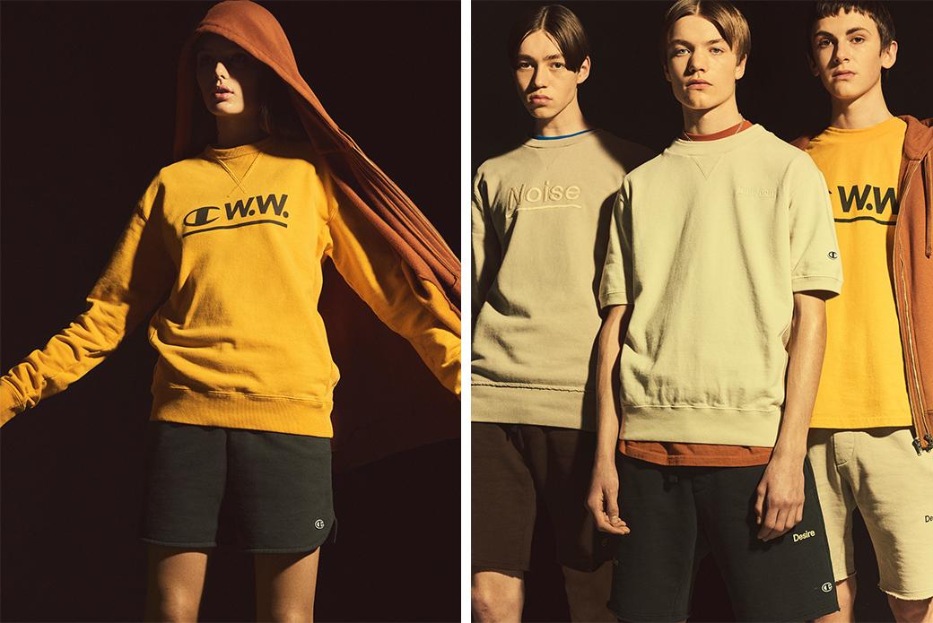 Champion Reverse Weave × Wood Wood: подчёркнутые эмоции