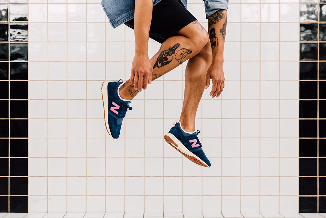 New Balance × Titolo 247: глубокая синева