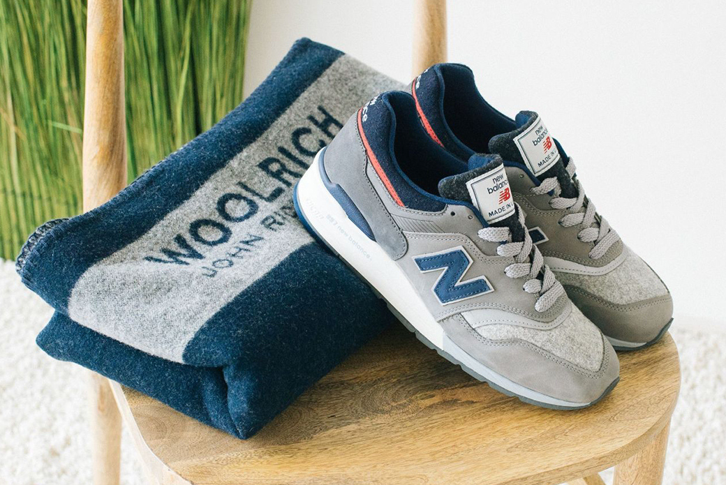 New Balance × Woolrich: шерстяная модель