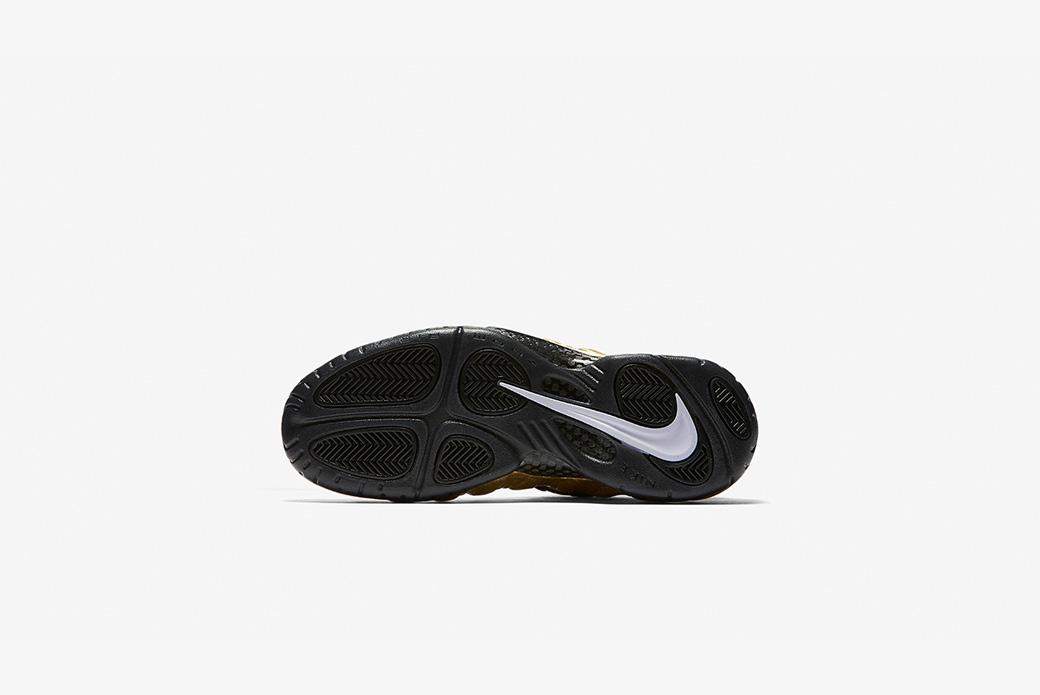 Nike Air Foamposite Pro: золотой металлик