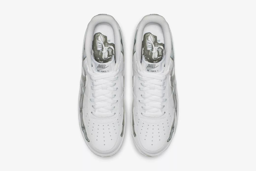 "Nike Air Force 1 Low ""Skeleton"": трепет Хэллоуина"