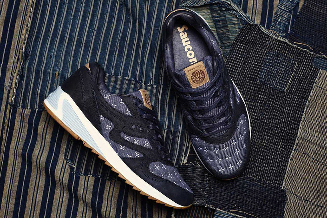 Saucony × Up There: вышивка сашико