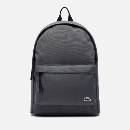 Рюкзак Lacoste Neocroc Canvas Zip Pocket Grey/Black
