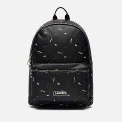 Рюкзак Lacoste All Over Print Logo Black
