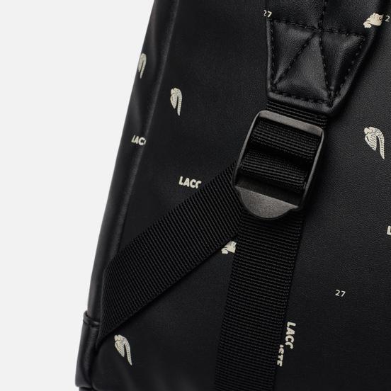 Рюкзак Lacoste All Over Print Logo Black
