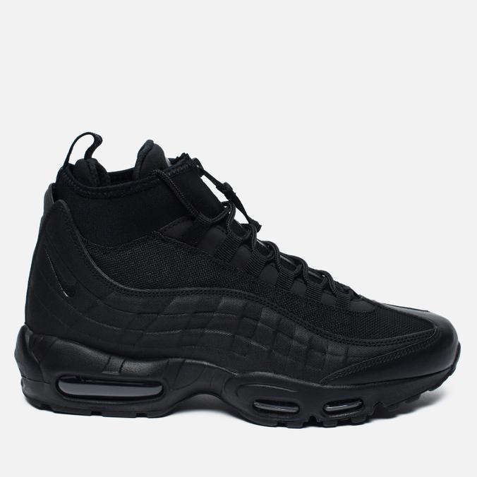 0f7ebe3d Мужские зимние кроссовки Nike Air Max 95 Mid Black/Black 806809-002