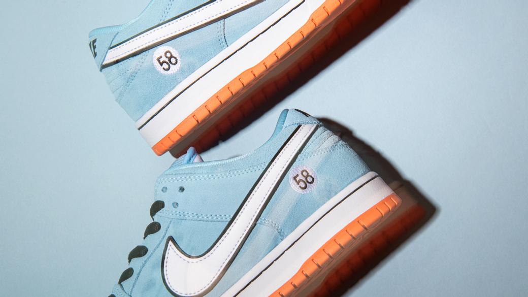 Nike SB Dunk Low Club 58 Gulf: к истокам автоспорта