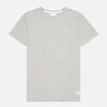 Мужская футболка Norse Projects Niels Basic Light Grey Melange фото- 0