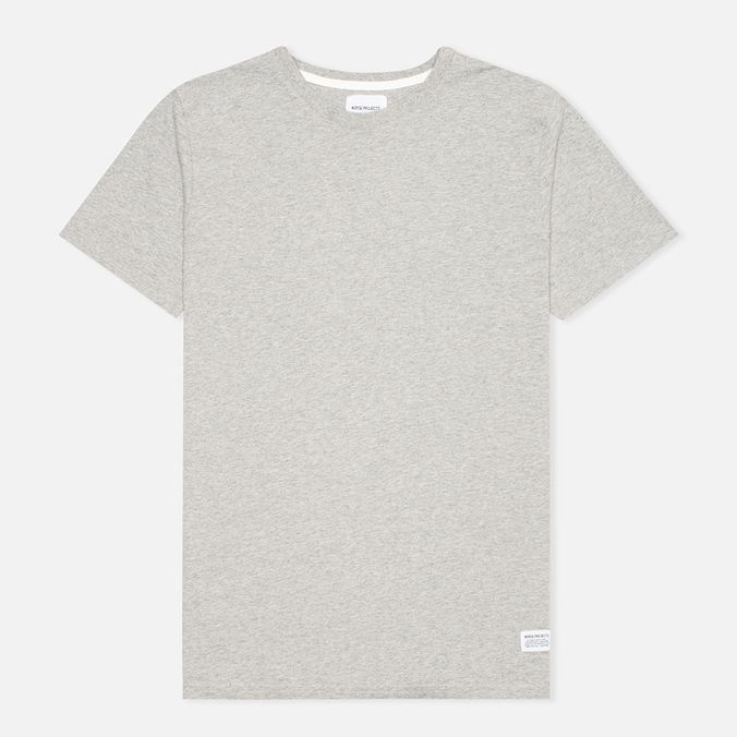 Мужская футболка Norse Projects Niels Basic Light Grey Melange