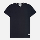 Мужская футболка Norse Projects Niels Basic Navy фото- 0