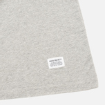 Мужская футболка Norse Projects Niels Basic Light Grey Melange фото- 3