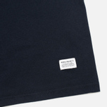 Мужская футболка Norse Projects Niels Basic Navy фото- 3