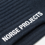 Norse Projects Haddi Cotton Men's Socks Dark Navy photo- 2