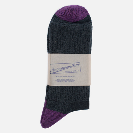 Носки Anonymous Ism Colour Mix Edge Black/Purple