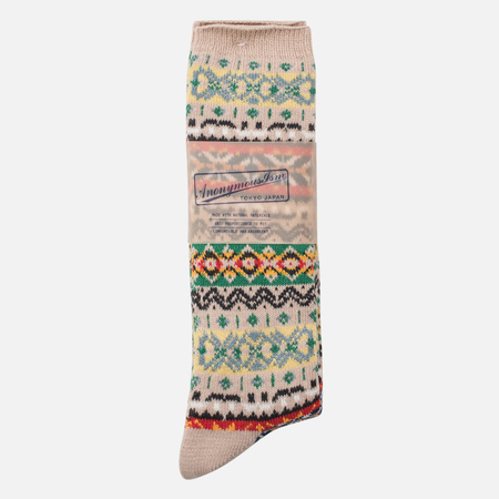 Носки Anonymous Ism Fair Isle Crew Beige