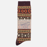 Носки Anonymous Ism Jacquard Crew Brown фото- 0
