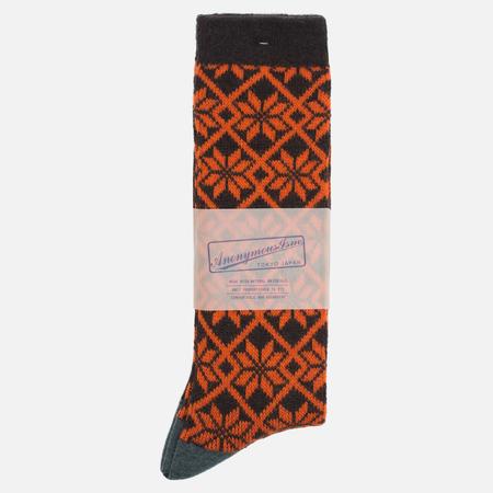 Носки Anonymous Ism Jacquard Print Charcoal/Orange