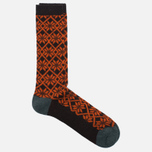 Носки Anonymous Ism Jacquard Print Charcoal/Orange фото- 1