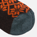 Носки Anonymous Ism Jacquard Print Charcoal/Orange фото- 2