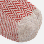 Носки Anonymous Ism Wool Herringbone Cream White/Red фото- 2