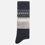 Носки Anonymous Ism Wool Print Charcoal фото- 0
