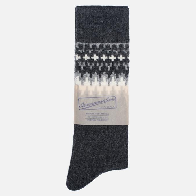 Носки Anonymous Ism Wool Print Charcoal