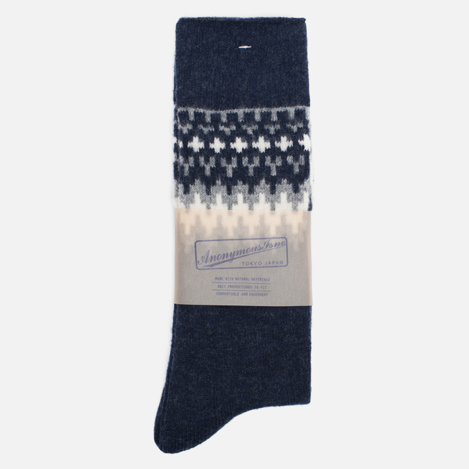 Носки Anonymous Ism Wool Print Navy