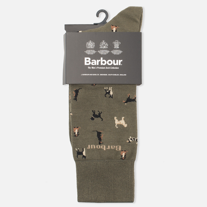 Носки Barbour Mavin Mid Olive/Dog