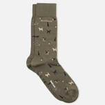 Barbour Mavin Mid Socks Olive/Dog photo- 1