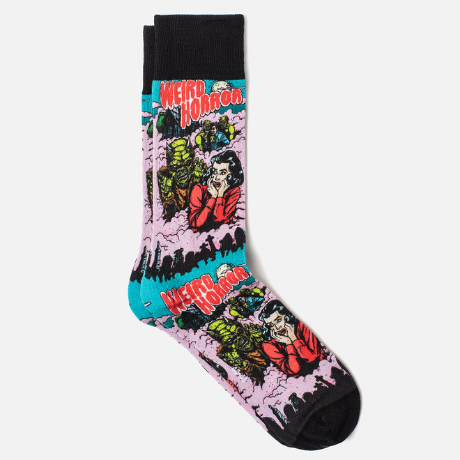 Носки Burlington Horror Print Black