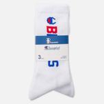 Мужские носки Champion Reverse Weave x Beams 3-Pack White фото- 0