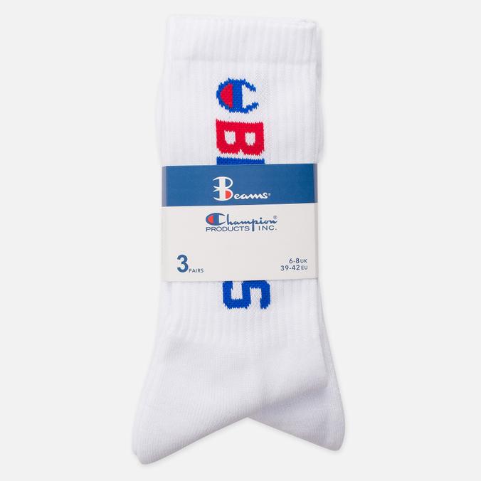 Мужские носки Champion Reverse Weave x Beams 3-Pack White