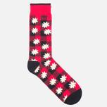 Носки Democratique Socks Buffalo Daisy Spring Red фото- 1