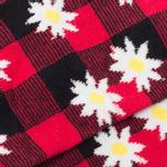 Democratique Socks x Mark McNairy Buffalo Daisy Socks Spring Red photo- 2