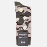 Носки Democratique Socks Camo Daisy Army/Yellow фото- 0