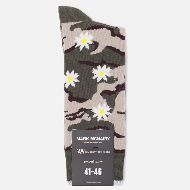 Носки Democratique Socks Camo Daisy Army/Yellow