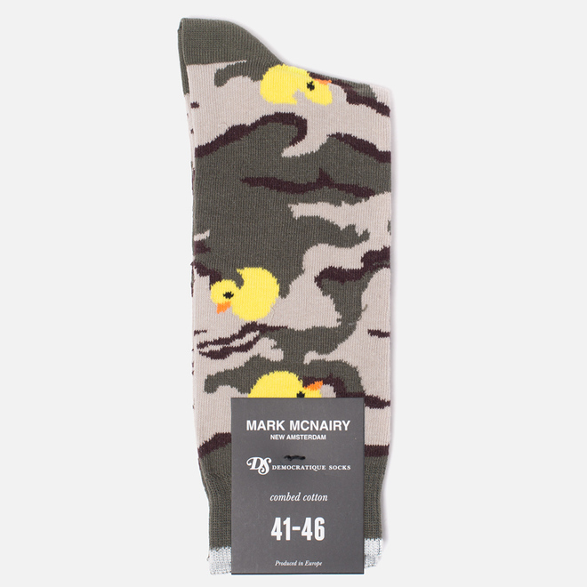 Носки Democratique Socks Camo Ducks Army/Yellow