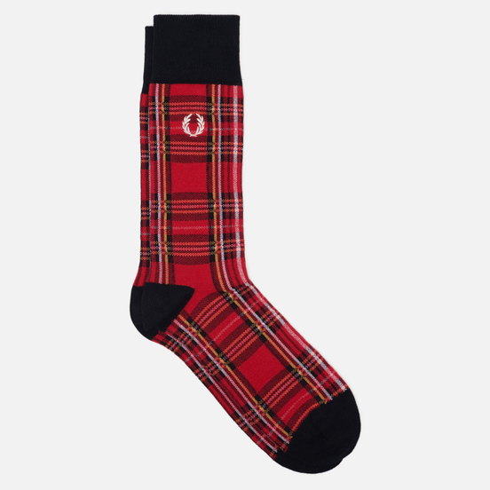 Носки Fred Perry Royal Stewart Tartan Red