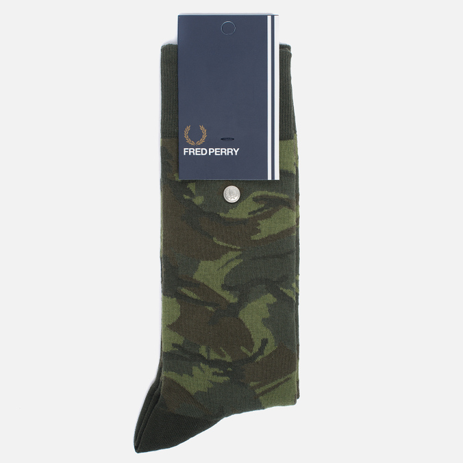 Носки Fred Perry Tonal Camo Hunting Green