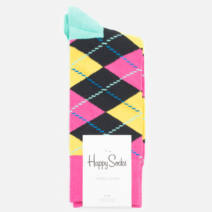 Носки Happy Socks Argyle Black/Blue/Pink/Yellow